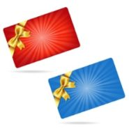 Gift cards with gold bows