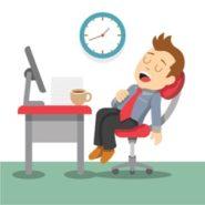 Sleeping employee graphic